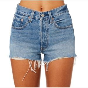Levi's 501 Cut Off Denim Shorts